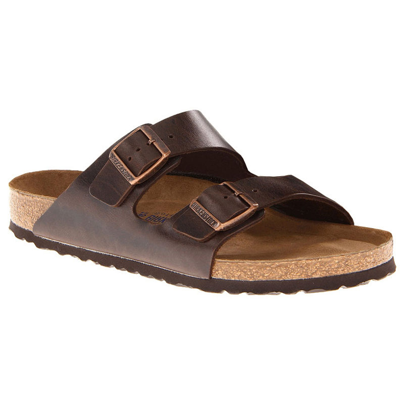 Birkenstock Women Arizona Soft Footbed Brown Amalfi Leather