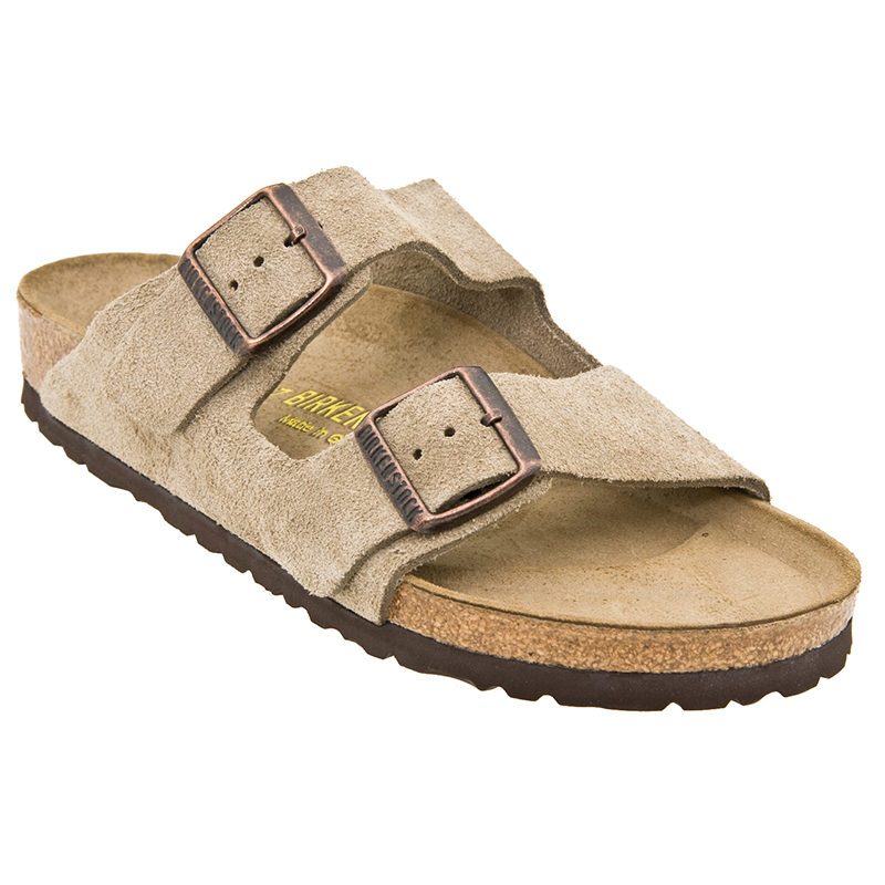 Birkenstock Women Arizona Soft Footbed Taupe Suede