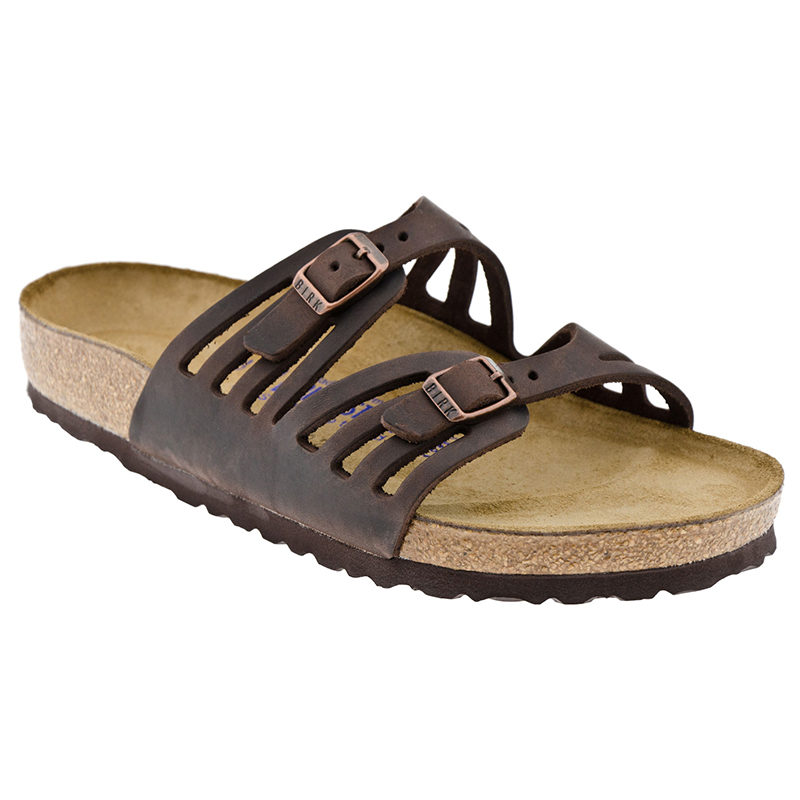 Birkenstock Women Granada Soft Footbed Habana Oiled Leather