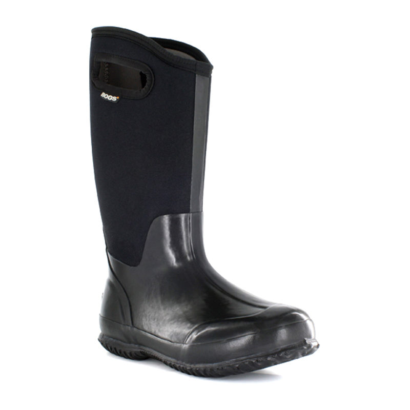 Bogs Women Classic High Handles Black Smooth