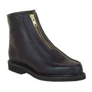 Double-H Boots | 6 Inch Insulated Front Zip Stadium Boot - Black  $186