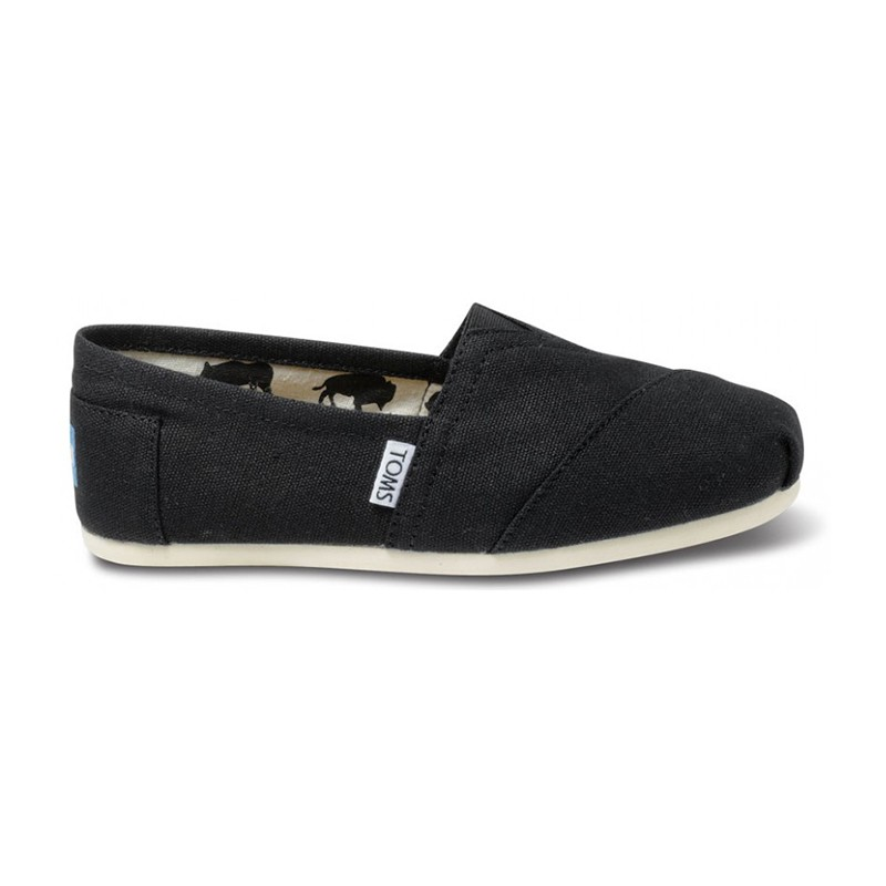 toms black canvas classics golden shoes traverse city