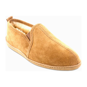 Minnetonka Moccasin | Twin Gore Sheepskin – Tan (3731)