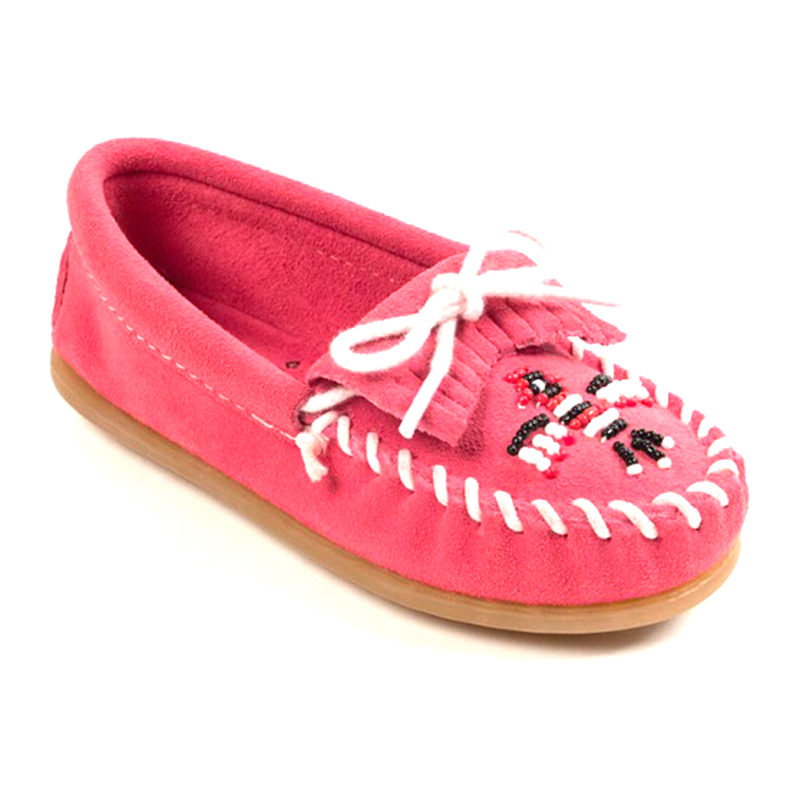 Minnetonka Moccasin Children Thunderbird II Pink 2605