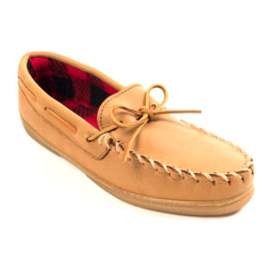 Minnetonka Moccasin | Moosehide Fleece – Natural (3950)