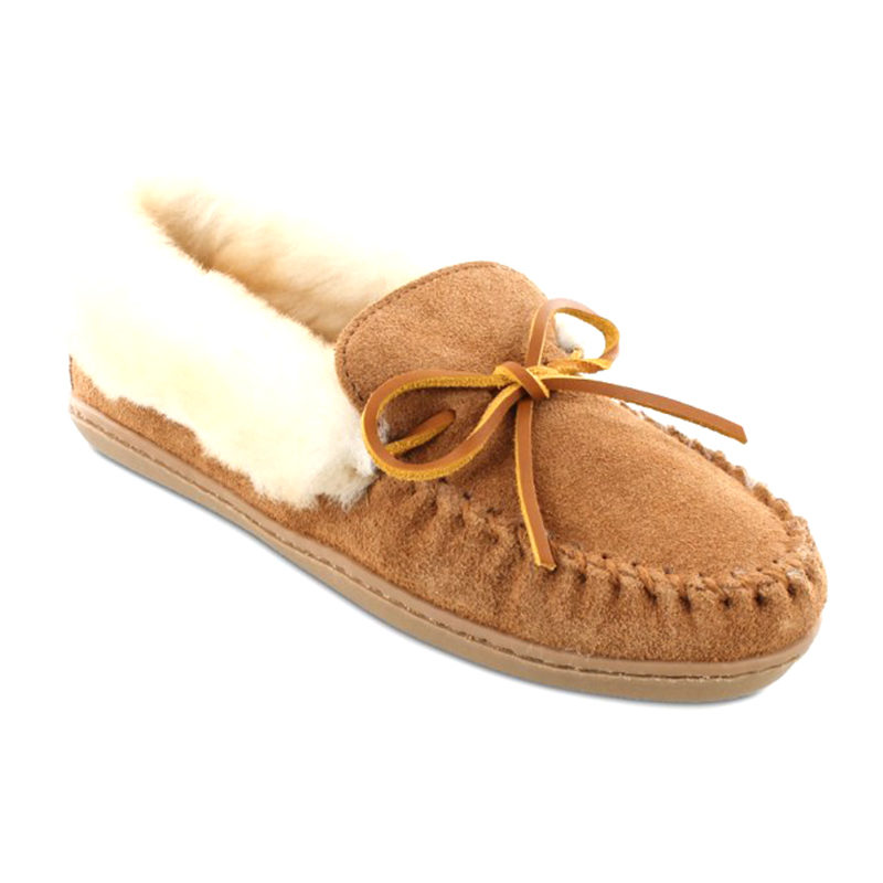 Minnetonka Moccasin Women Alpine Sheepskin Moccasin Tan 3371