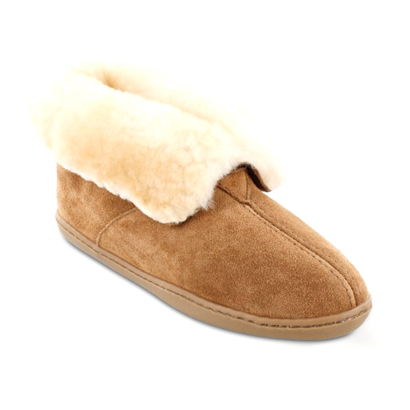 Minnetonka Moccasin Women Sheepskin Ankle Boot Tan 3351