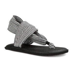 Sanuk | Youth Yoga Sling - Black / White Stripes