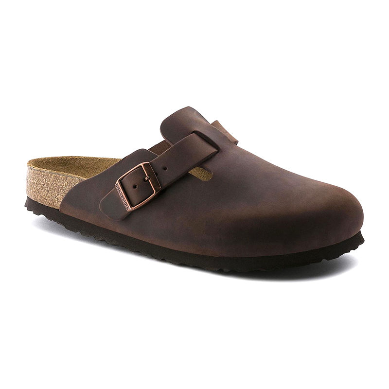 Birkenstock Women Boston Soft Footbed Habana Oiled Leather
