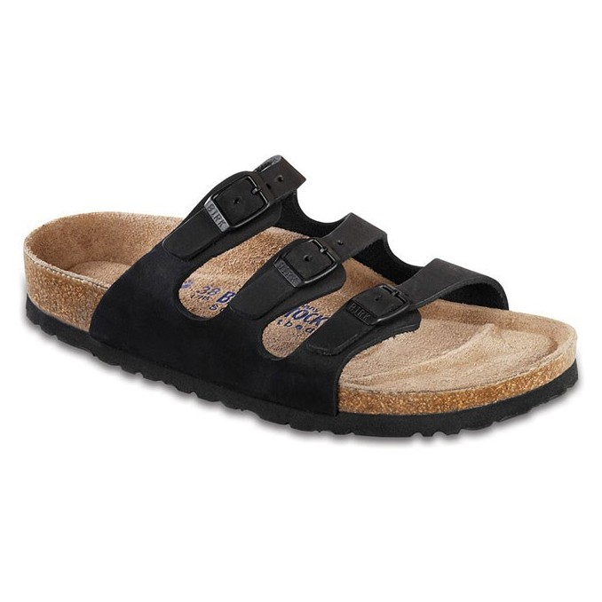 Birkenstock Women Florida Soft Footbed Black Nubuck