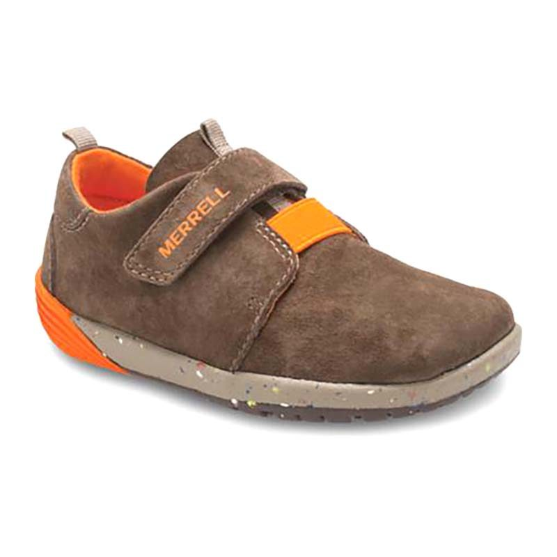 Merrell Children Bare Steps Sneaker Velcro Brown