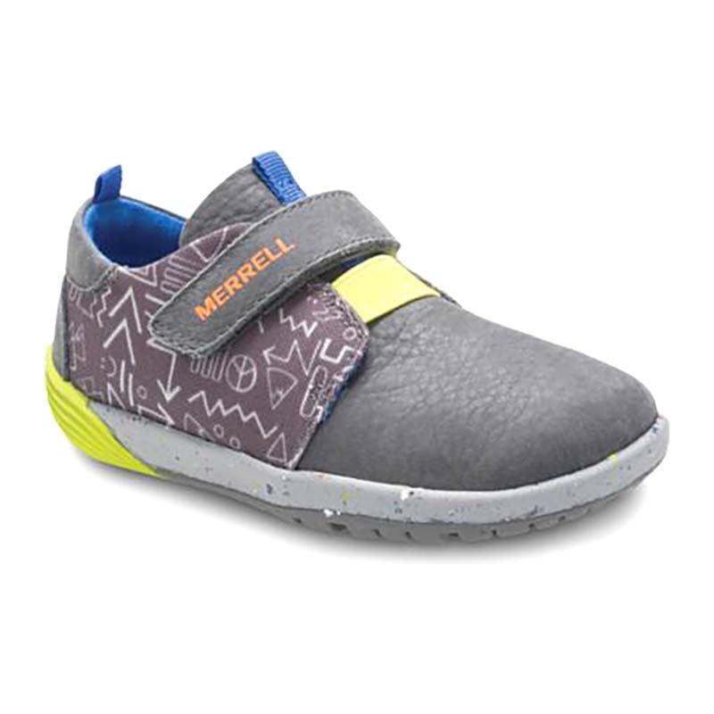Merrell Children Bare Steps Sneaker Velcro Grey