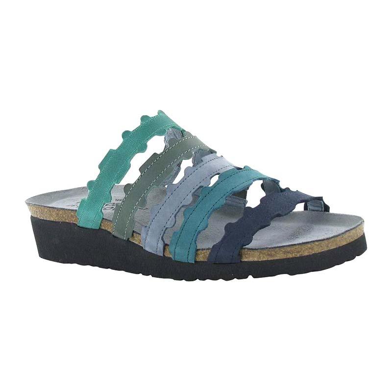 NAOT Women 4034 VAK Adina Emerald Sea Green Feathery Blue Teal Navy
