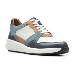 Clarks | Un Rio Run – White / Blue