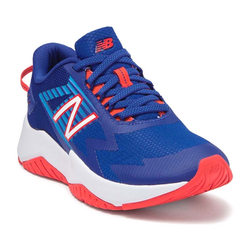 New Balance Children Rave Run Marine Blue Vision Blue Neo Flame