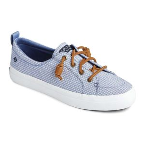 Sperry | Crest Vibe Mini Check Sneaker – Blue / White