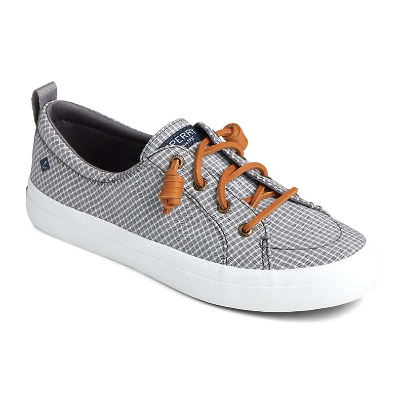 Sperry Women Crest Vibe Mini Check Sneaker Grey White