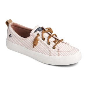 Sperry | Crest Vibe Seersucker Stripe Sneaker – Rose / White