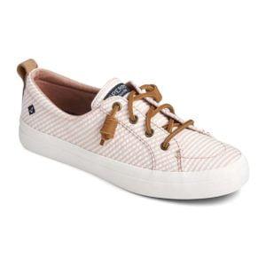 Sperry | Crest Vibe Seersucker Stripe Sneaker – Rose / White