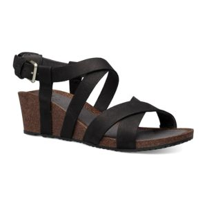 Teva | Mahonia Wedge Cross Strap – Black