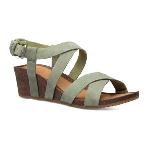 Teva | Mahonia Wedge Cross Strap – Calliste Green