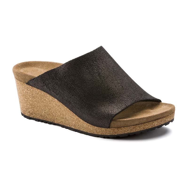 Birkenstock Papillio Women Namica Washed Metallic Antique Black Suede Leather