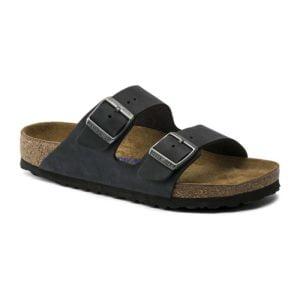Birkenstock | Arizona Soft Footbed – Black Oiled Nubuck Leather