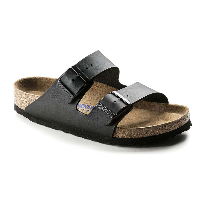 Birkenstock Women Arizona Soft Footbed Black Birko Flor