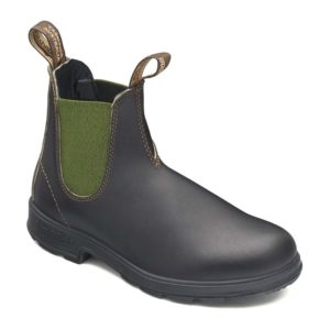 Blundstone   Style 519 Originals Chelsea Boot – Stout Brown / Olive Elastic