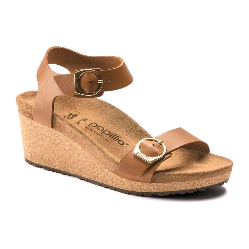 Birkenstock   Papillio Soley – Ginger Brown Leather