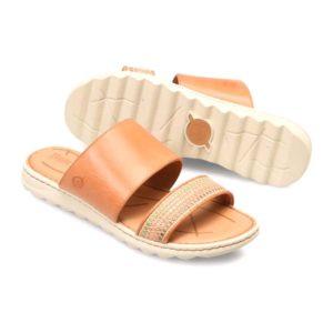 Born | Shore – Orange Melon Leather & Fabric Combo