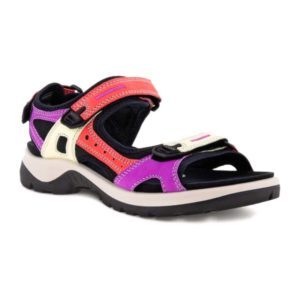 Ecco   Yucatan Sandal –  Multicolor Hibiscus