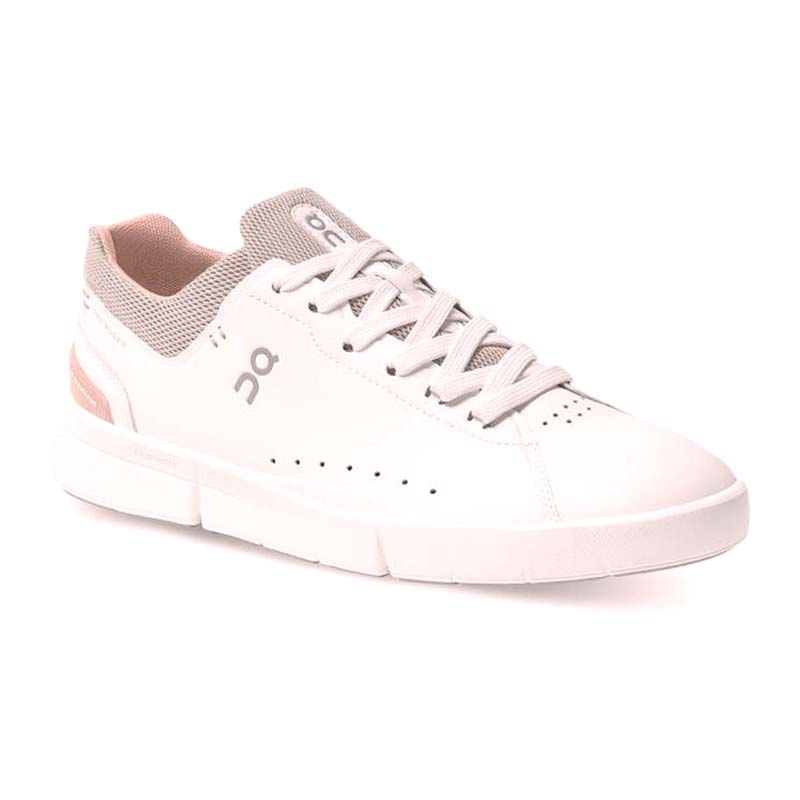 On Running | THE RODGER Advantage – White / Rose