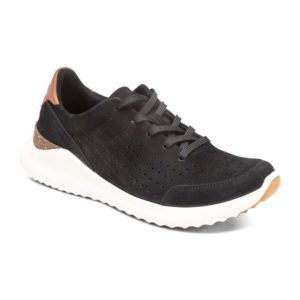 Aetrex | Laura Lace Up Sneaker – Black