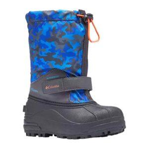 Columbia | Powderbug Forty Print Snow Boot – Shark / Tangy Orange