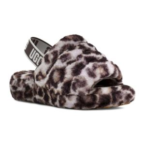 UGG   Fluff Yeah Slide Panther Print – Stormy Grey